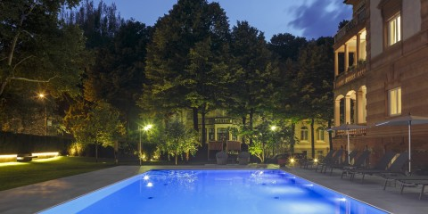Windsor Hotel piscina pool notte night nacht